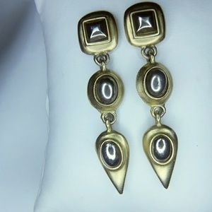 Brushed Gold & Silver Earrings